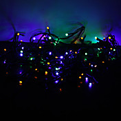 10 m Lysslynger 100 LED Dip Led RGB Fargeskiftende 220 V