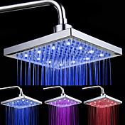 Moderno Ducha lluvia Cromo Característica - Luz LED, Alcachofa de la ducha
