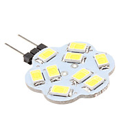 2w g4 led bi-pin luces 9 smd 5630 200-250lm blanco natural 6000k dc 12v