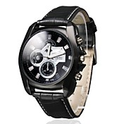 Hombre Reloj de Pulsera Reloj Casual PU Banda Encanto Negro