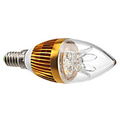 3W 3000 lm E14 Luces LED en Vela C35 3 leds LED de Alta Potencia Regulable Decorativa Blanco Cálido AC 220-240V