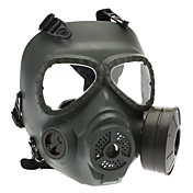야외 전쟁 게임에 대한 두개골 작풍 가스 마스크 - 육군 녹색