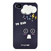 Superficie Mood patrón caso duro mate Lunes PC con el enchufe del Anti-polvo para el iPhone 4/4S