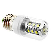 600 lm E26/E27 LED-kornpærer T leds SMD 5630 Naturlig hvit AC 220-240V