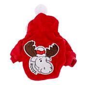 Perro Abrigos Saco y Capucha Ropa para Perro Rojo Azul Disfraz Para mascotas Hombre Mujer Navidad