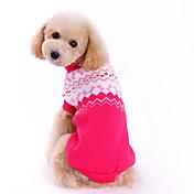 Perro Suéteres Ropa para Perro Lazo Rosa Tejido de lana Disfraz Para mascotas Hombre / Mujer Moda