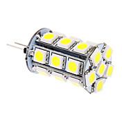 370lm G4 LED-kornpærer T 24 LED perler SMD 5050 Kjølig hvit 12V