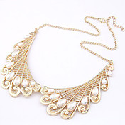 Collar de la falsificación de la vendimia de las mujeres collar de perlas