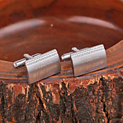 모조 다이아몬드 개인화 된 선물 장방형은 금속 새겨진 커프스 단추