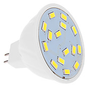 460 lm Focos LED MR16 15 leds SMD 5630 Blanco Fresco DC 12V