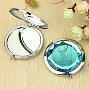 Personlig gave Hjerte og Lover Pattern Chrome Compact Mirror