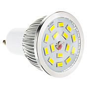 GU10 Focos LED 15 leds SMD 5730 Regulable Blanco Cálido 100-550lm 2700-3500K AC 100-240V