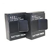 Accesorios para GoPro,bateríaPara-Cámara acción,Gopro Hero 3 Gopro Hero 3+ metal Plástico