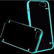 efecto fluorescente maylilandtm después de encender la caja trasera transparente para el iphone 5 / 5s (colores surtidos)