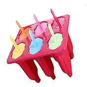6 kopper Generelt Shape Popcicle Former skuff, Mat Sikker PP materiale, tilfeldig farge