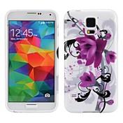 Para Funda Samsung Galaxy Diseños Funda Cubierta Trasera Funda Flor TPU Samsung S5