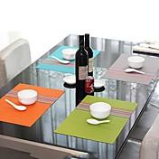 Mote Bare stil assortert Color Striped Brikke for middag, L45cm x B 30cm, Varmebestandig PVC