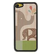 Elefante de la madre y del bebé Rociar Patrón Shimmering Caja dura de la PC para el iPhone 5C