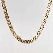 Hombre Otros Forma Diseño Único Moda Collares de cadena Titanio Acero Chapado en Oro Collares de cadena Regalos de Navidad Regalo Diario