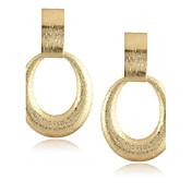 pendientes de gota irregulares de las mujeres del oro de la forma de la forma \\ estilo elegante