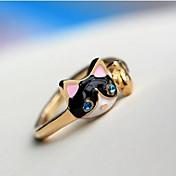 Mujer Diamante Sintético / Legierung Gato Anillo de declaración - Animal Personalizado / Lujo / Moda Azul Oscuro anillo Para Fiesta /