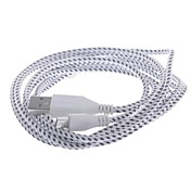 Micro USB 2.0 USB 2.0 USB-kabeladapter Flettet Kabel Til 200cm Nylon