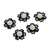 ZDM® 5pcs LED de alta potencia 100-120 lm 3 V Luminoso / Accesorio de la bombilla Chip LED Aluminio para DIY Proyector de luz de