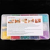 무지개 화려한 베틀 DIY 고무 밴드 어린이 장난감 무지개 앞치마 (15) 상자, 포장 2,000 개를위한 키트