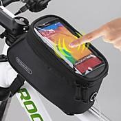 ROSWHEEL Bolsa para Guardabarro Bolsa para Cuadro de Bici Bolso del teléfono celular 5.5 pulgada Impermeable Cremallera impermeable