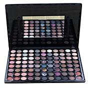 88 Paleta de Sombras de Ojos Seco / Mate / Brillo / Mineral Paleta de sombra de ojos Polvo Grande Maquillaje Smokey / Maquillaje de Fiesta