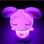 Coway Lovely Kjærlighet Rabbit Fargerike LED Night Light