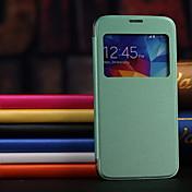 삼성 갤럭시 S5 i9600에 대한보기 창 PU 가죽 케이스 하드 다시 케이스