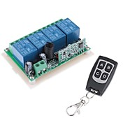 12V de 4 canales inalámbricos Módulo de relé de potencia a distancia con control remoto (DC28V-AC250V)