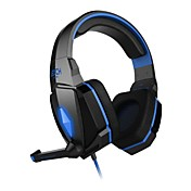 hver G4000 hodetelefon 3,5 mm over øret gaming volumkontroll med mikrofon stereo for pc