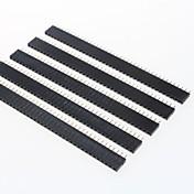gdw az13 40 pines conectores macho de paso de 2,54 mm - negro (5 piezas)