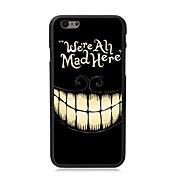 elonbo cara sonriente cubierta trasera dura de plástico para iphone 6 casos de iphone