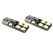 T10 차 모터사이클 화이트 1W 5800-6300 인스루먼트 라이트 리딩 라이트 라이센스 플레이트 라이트 사이드 마커 라이트 턴 시그널 라이트 인스펙션 램프 도어 램프