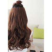 onda larga sintética 5 clip-en la extensión del pelo
