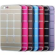 ultrafina de la tela escocesa de metal duro de la cubierta para el iphone 6 (colores surtidos)