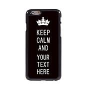 "caja personalizada keep negro caso del diseño del metal tranquilo para el iphone 6 (4,7 "")"