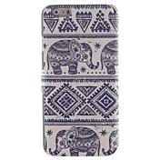 용 아이폰6케이스 / 아이폰6플러스 케이스 카드 홀더 / 스탠드 / 플립 / 패턴 케이스 풀 바디 케이스 코끼리 하드 인조 가죽 iPhone 6s Plus/6 Plus / iPhone 6s/6