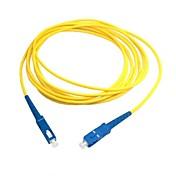 5m 15ft sc de fibra sc cable de conexión del cable de puente simplex sm único modo de óptica para la red del envío libre