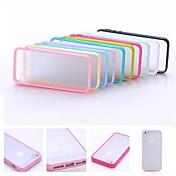 multicolor gel de capítulo de TPU suave exfoliante translúcida pc caso trasero duro para el iphone 4 / 4s (colores surtidos)