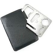Tarjeta de crédito herramienta de la supervivencia Acero inoxidable plata PC