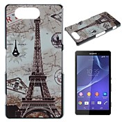 Maps and the Eiffel Tower Pattern PC Hard Case for Sony Xperia Z3 mini D5803 M55w
