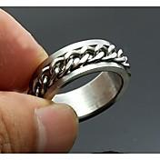 개인화 된 선물 남자의 반지 스테인레스 스틸 새겨진 보석