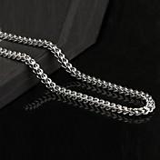 collar de cadena de acero de titanio sencilla manera de los hombres