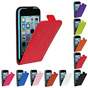 Etui Til iPhone 5C Apple Heldekkende etui Hard PU Leather til iPhone 5c