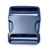 clip para el cinturón de correa de equipaje liberación lateral de plástico hebillas 50mm negro (paquete 1piece)