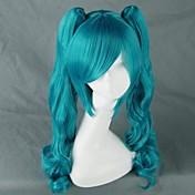 Pelucas de Cosplay Vocaloid Hatsune Miku Videojuegos de anime Pelucas de Cosplay 75 CM Fibra resistente al calor Mujer